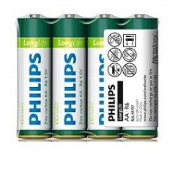Батарейка Philips LongLife AA R6