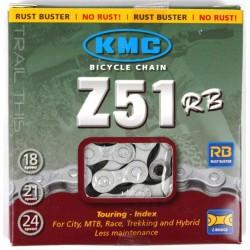 Цепь KMC Z50RB 116 звеньев, 6/7/8 звёзд, с замком