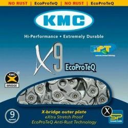 ЦЕПЬ KMC X9EPT 116 9-СК.