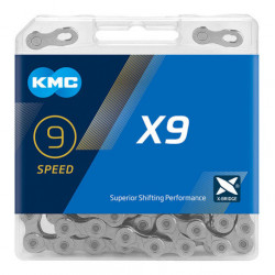 ЦЕПЬ KMC X9 116 Silver 9-СК.