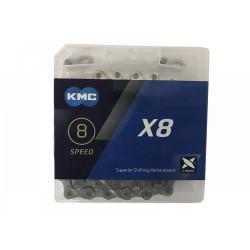 ЦЕПЬ KMC X8 116 Silver 8-СК.