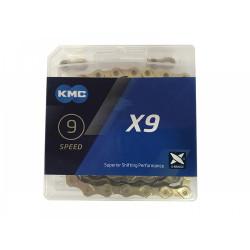 ЦЕПЬ KMC X9 116 GOLD 9-СК.