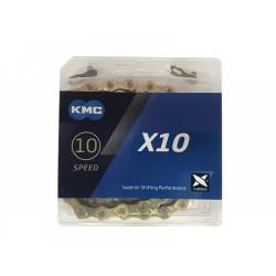ЦЕПЬ KMC X10 GOLD 116 ЗВЕНЬЕВ