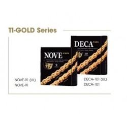 Цепь TAYA NOVE-91DHT Ti-Gold 9-ск.